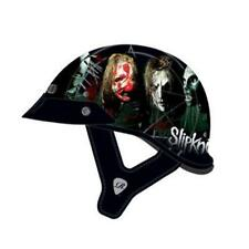 Rockhard Slipknot Nine Motorcycle Half Helmet Black Medium MD