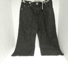 Larry Levine Women's Capri Jeans Size 4 Black New!!!