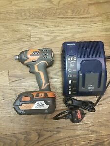 """Ridgid R86034 18 V Li-Ion 1/4"""" Hex Impact Driver -Bare Tool Only and charger"""