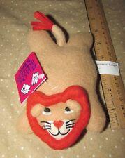 "Crown Craft Pillow Buddies Babies Plush Lion Rorie Bean Bag Mini 6"" baby"