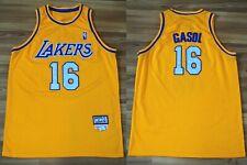 LOS ANGELES LAKERS PAU GASOL T-SHIRT JERSEY NBA HARDWOOD CLASSIC MITCHELL NESS