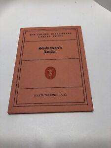 16 London Landmarks Shakespears Engraving Print 1935 Folger Library 16th Century