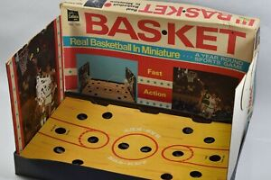Bas-ket Real Basketball In Miniature 1970 Vintage Cadaco Games Sports Game