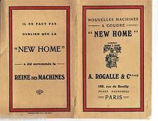 Catalogue publicité machine à coudre NEW HOME Rogalle & cie