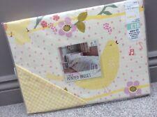 NEW NEXT Girls Cute Yellow & Pink Song Bird Single Duvet Bed Set RRP £18 Ditsy