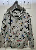 NWT Disney Parks Gray Mickey Mouse Zip Up Hoodie Sweatshirt Unisex M