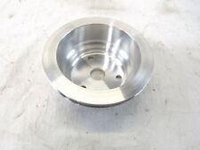 SBC Chevy 350 Long Water Pump Crankshaft Pulley Single Groove Satin BPE-5014