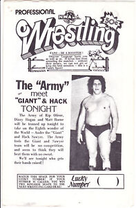 NWA Wrestling Program Andre the Giant 5/8/1982 Portland Northwest Vintage