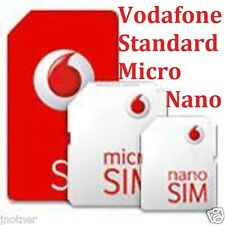 Vodafone Pay As You Go Includes Standard, Micro Nano Triple SIM Card NO CONTRACT