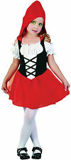GIRLS LITTLE RED RIDING HOOD TODDLER DRESS FAIRY TALE COSTUME OUTFIT NEW AG 2-3