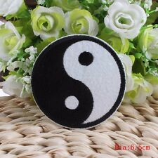 Yin & Yang Embroidered Iron Sew On Patch Symbol Sign Logo Clothes Bag Badge ying