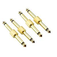 """4x 6.35mm 1/4"""" Stecker auf Stecker Gitarren Effekt Pedal Koppler Adapter"""