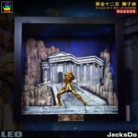 Jacksdo Saint Seiya Diorama Leo Temple Vitrine with LED Limité 100