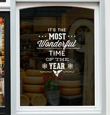 Christmas Window Sticker Shop Display Home Decor xmas Window Decal
