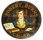 "ca1905 ROBERT BURNS CIGARS TIN LITHO ADVERTISING SIGN CHARGER 24"" FINE CONDITION"