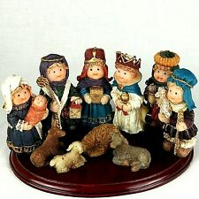 Coach House Gifts Christmas Nativity Set Chubby Resin Figures Holiday 11 Piece