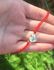 Gold Heart   Red cord Lucky  Bracelet Protection Evil Eye Handmade