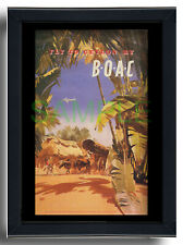More details for boac fly to ceylon handley page hermes framed repro poster frank wootton 1951