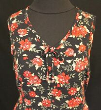 Women's floral sleeveless dress by Impressions, size XL