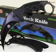 SE Black Claw Hawkbill Karambit Military Tactical Combat Survival Neck Knife