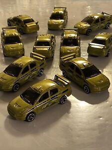 "Lot Of 10 Hot Wheels 5-Pack-Exclusive Green Mitsubishi Lancer Evolution ""Evo"""