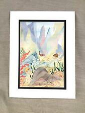 Original Book Artwork Illustration The Water Babies Watercolor Painting RARE