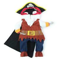 Pet Dog Costume Pirate Clothes For Cats Halloween Dress Up Apparel Kit