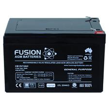 12V 12AH Fusion AGM Deep Cycle AGM UPS, Scooter, Bike, Alarm Battery