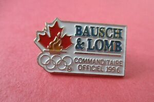 Bausch & Lomb Canada Commanditaire (Sponsor) 1996 Atlanta Olympic Pin