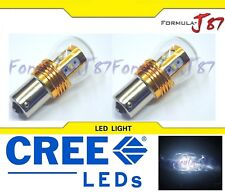 LED Light 25W 1156 White 5000K Two Bulbs Stop Brake Rear Replace Upgrade Lamp OE