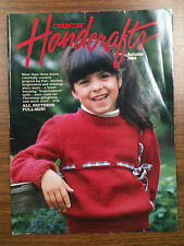 Vintage Country Handcrafts Magazine Autumn 1986 with Full Size Patterns