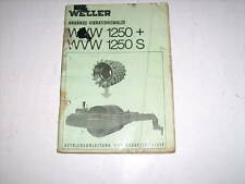 Ersatzteilliste Vibrationswalze Walze WVW 1250+ 1250 S