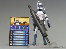 STAR WARS COMMANDER WOLFFE CLONE COLLECTION CW48 TCW SOTDS LOOSE