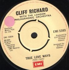 "CLIFF RICHARD true love ways 7"" WS EX/ uk EMI 5385 sol"