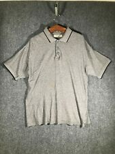 Northern Apparel Gray Collared Polo Golf Shirt Large Mens Casual Size L Soft Tee