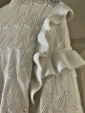 Ruffled White Sweater from Barcelona size Small SALE!