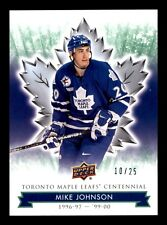 MIKE JOHNSON 2017  MAPLE LEAFS TORONTO CENTENNIAL GREEN NO 99 XX/25  20046