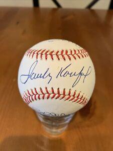 Pitching Greats Autographed Baseball Beckett BAS Certified - Sandy Koufax ++