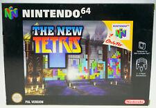 The New Tetris-complètement dans neuf dans sa boîte Nintendo 64 n64 en boîte CIB