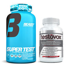 Beast Sports Super Test 216 ct + Testovox 60 ct Extreme Muscle Building Stack