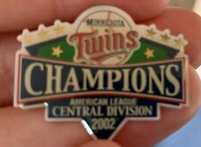 Minnesota Twins 2002 Central Division Champions Pin Minty Nice!
