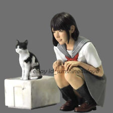 New 1:20 Scale Japan Girl & Cat Figure Model Resin Unpainted Garage Kit Statue