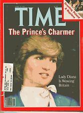 PRINCESS Lady DIANA Wowing Britain PHOTOS Collectible TIME MAG April 20 1981