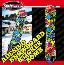 Adesivi Adesivo Sticker Kit TAVOLA SNOWBOARD STICKER BOMB DC HOTWEELS ANDROID