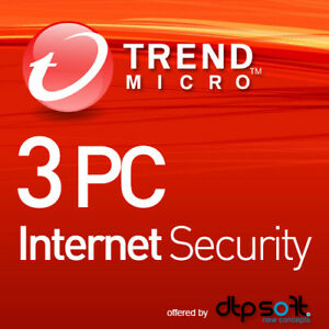 Trend Micro Internet Security 2021 3 PC 1 Year License MD 3 user 2021 UK