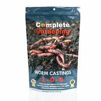 Worm Casting (1-0-0) - Soil Amendment - 99% pure organic warm castings