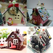 Mini 3D Christmas House Silicone Fondant Mould Cake Decor Chocolate Cutter Mold