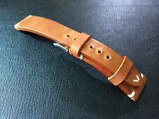 New Vintage Brown color Leather Watch Strap for Luxury watch (20mm)