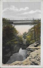View in the Gorge, Nay Aug Park, Scranton PA vintage postcard used in 1916