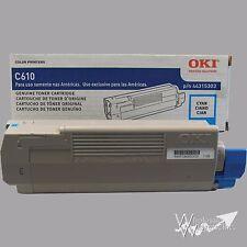 Genuine Okidata 44315303 Cyan Toner C610 C610CDN C610DN C610DTN C610N